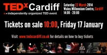 EDxCardiff tickets on sale 17 January
